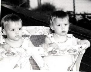 My twin sister and I as babies (I'm on the left)!